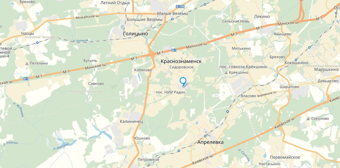 Карта расположения склада ККМ